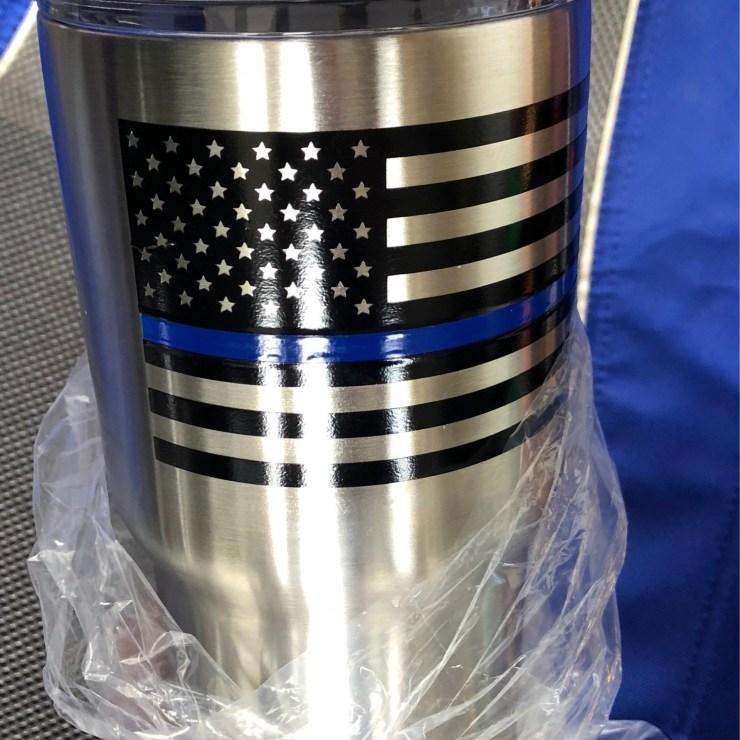 Thin Blue Line Flag Tumbler 3607002F-3DA7-4E98-8F38-5B65FEF8AE6E
