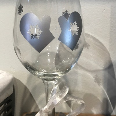 Winter Wine Glass