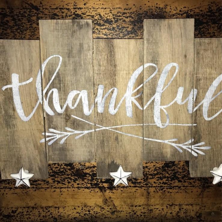 Pallet Sign - Thankful