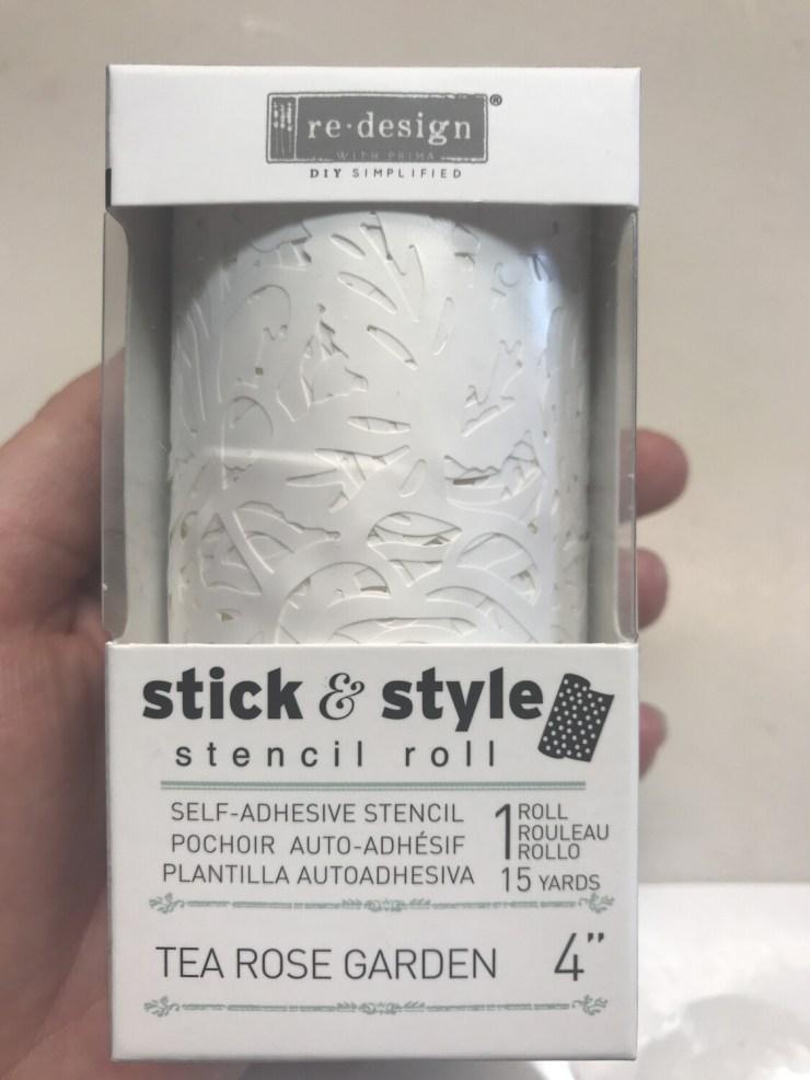 Redesign with Prima Stick & Style Stencil -