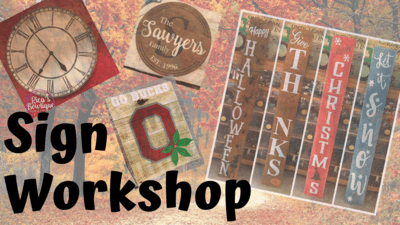 Sign Workshop - 11/19