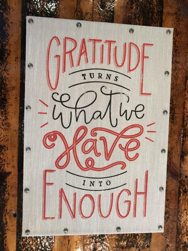 Gratitude Sign