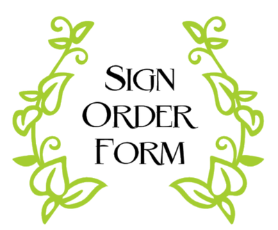 Sign ONLY Order Form