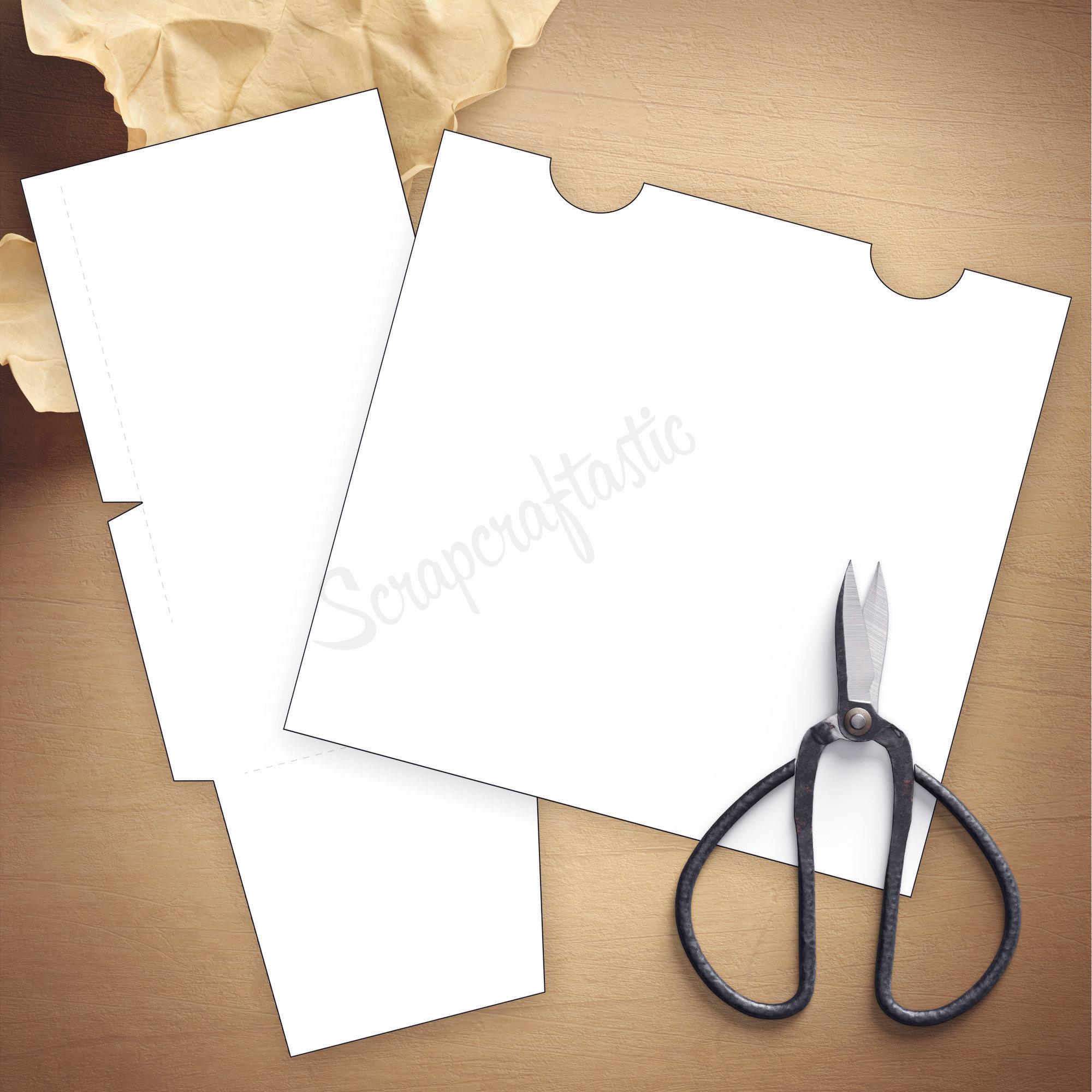 Folder Insert Template for Standard or Regular Size Traveler's Notebook 07010