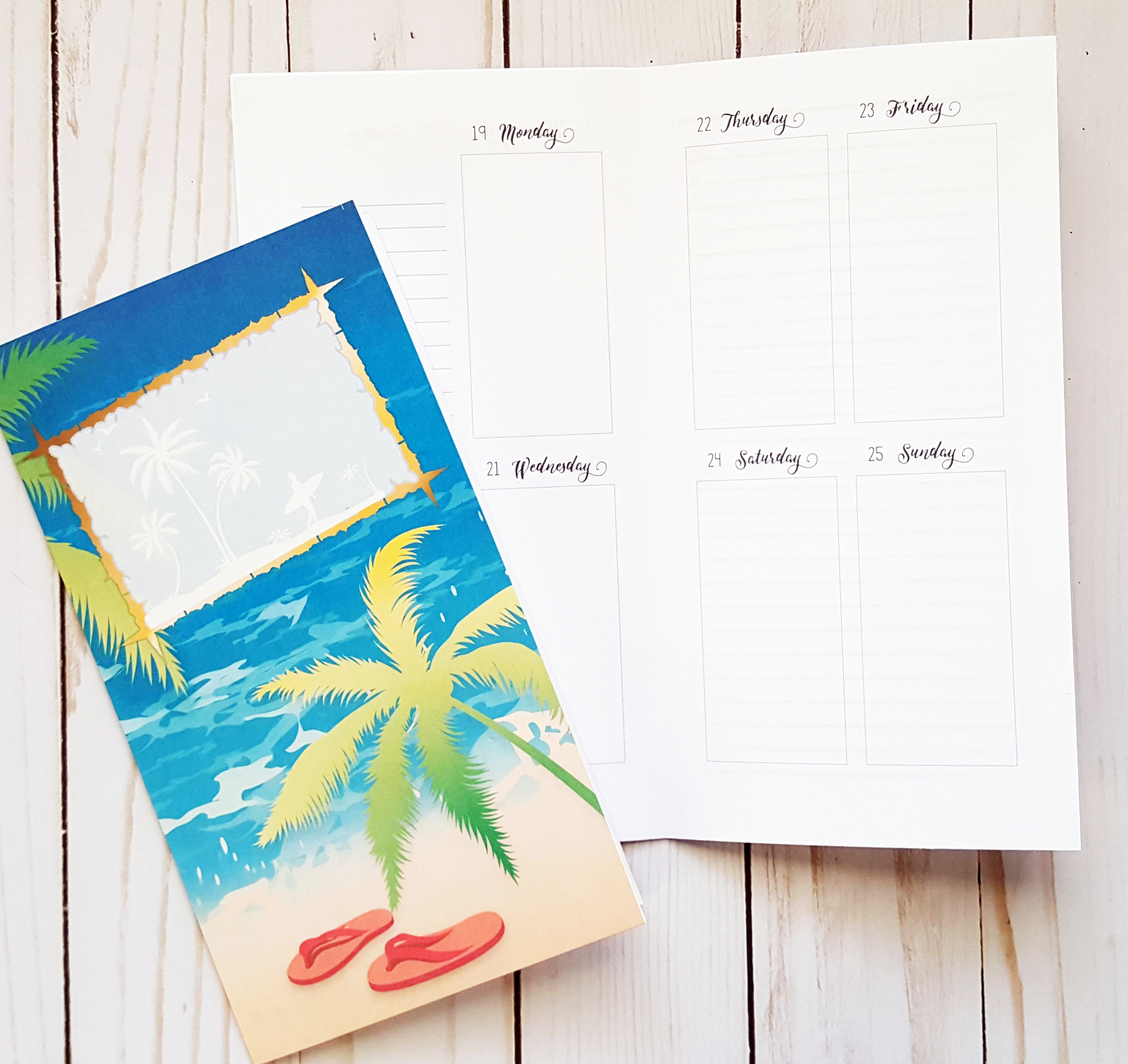 June 2017 A6 Traveler's Notebook Printable Planner Inserts