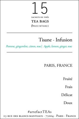 x15 Tisane Sachets de Thé | Tea Bags
