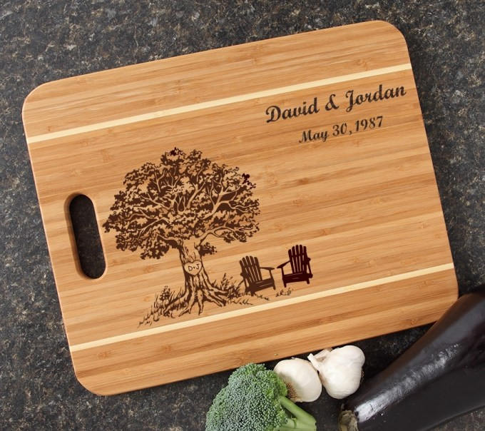 Personalized Cutting Board Engraved 15x12 Handle DESIGN 31 CBA-031