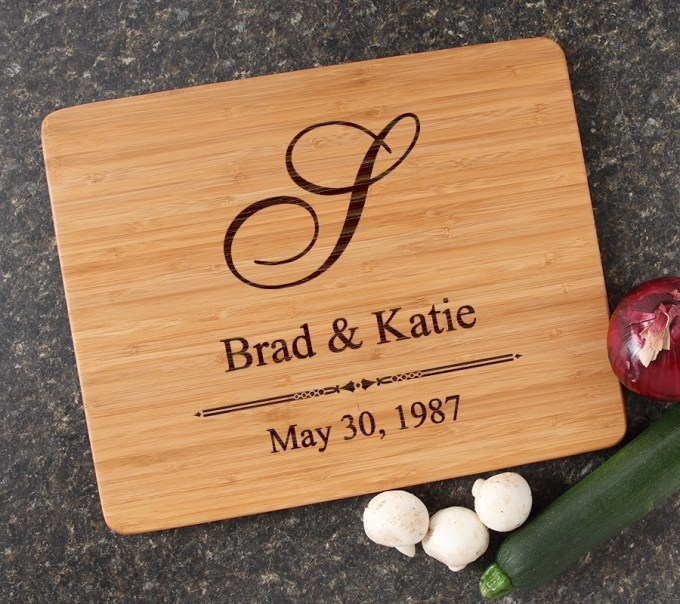 Engraved Bamboo Cutting Board Personalized 15x12 DESIGN 11 CBB-011