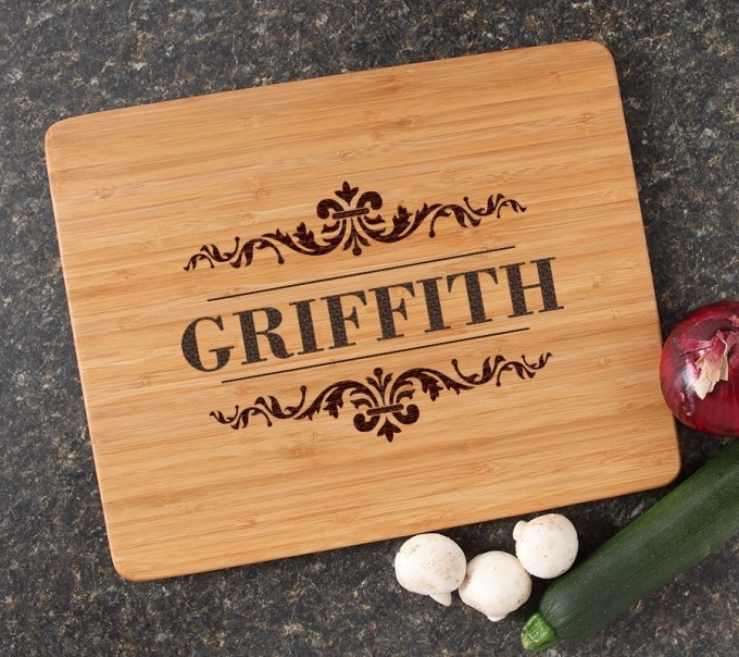 Engraved Bamboo Cutting Board Personalized 15x12 DESIGN 16 CBB-016
