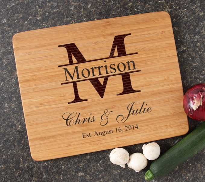 Engraved Bamboo Cutting Board Personalized 15x12 DESIGN 24 CBB-024