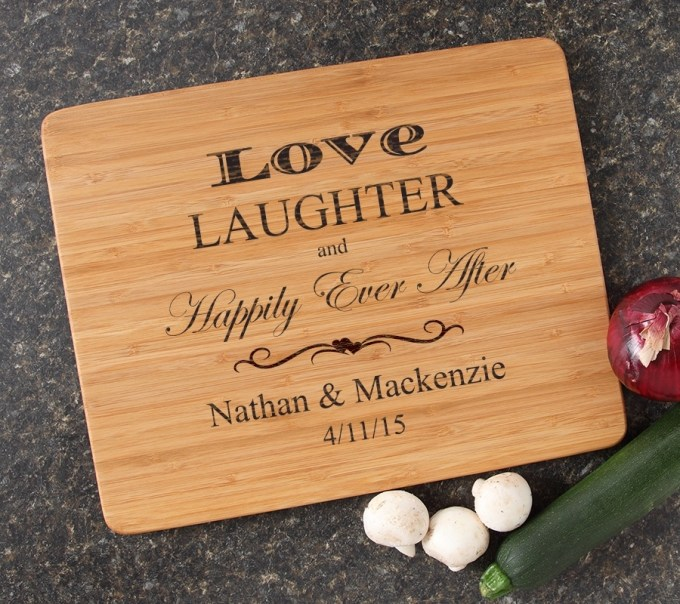 Engraved Bamboo Cutting Board Personalized 15x12 DESIGN 26 CBB-026