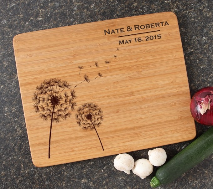 Engraved Bamboo Cutting Board Personalized 15x12 DESIGN 28 CBB-028