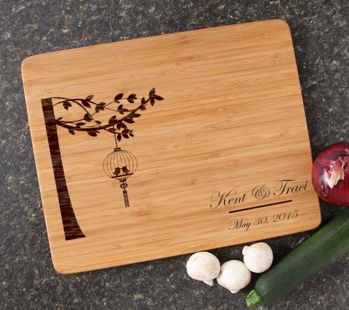 Engraved Bamboo Cutting Board Personalized 15x12 DESIGN 32 CBB-032