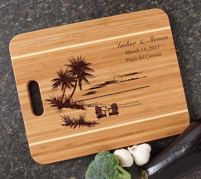 Personalized Cutting Board Engraved 15x12 Handle DESIGN 33 CBA-033