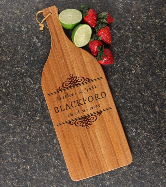Personalized Cutting Board Engraved Bamboo 16 x 5 DESIGN 14 CBD-014