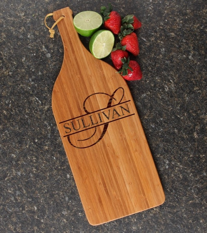 Personalized Cutting Board Engraved Bamboo 16 x 5 DESIGN 25 CBD-025