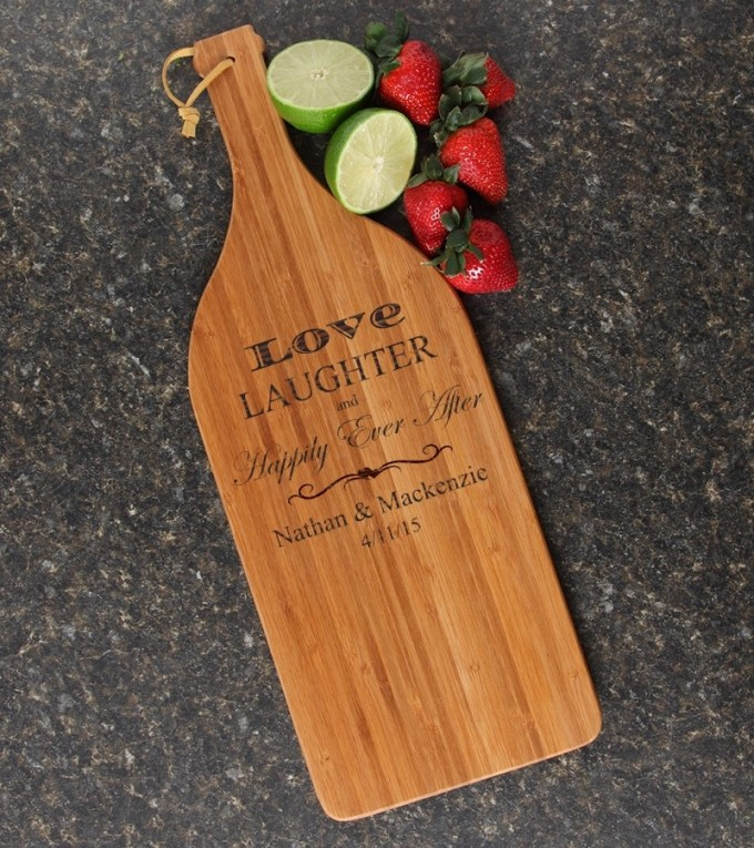 Personalized Cutting Board Engraved Bamboo 16 x 5 DESIGN 26 CBD-026