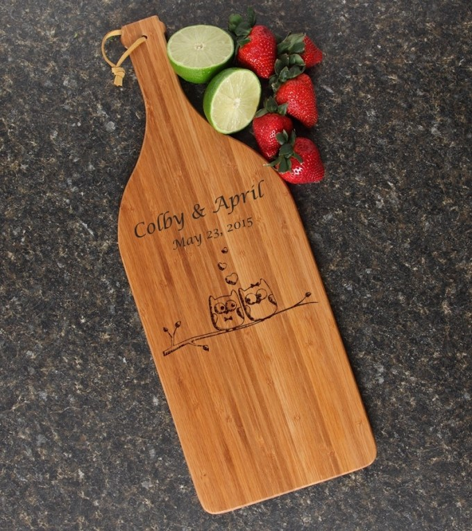 Personalized Cutting Board Engraved Bamboo 16 x 5 DESIGN 29 CBD-029