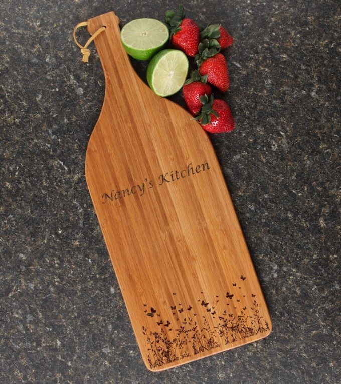 Personalized Cutting Board Engraved Bamboo 16 x 5 DESIGN 30 CBD-030