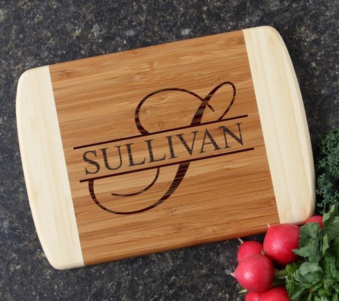 Personalized Cutting Board Custom Engraved 10 x 7 DESIGN 25 CBG-025