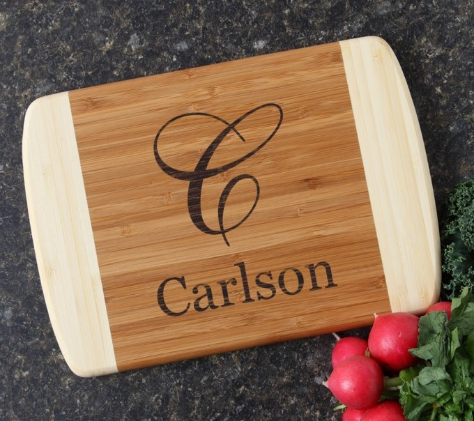 Personalized Cutting Board Custom Engraved 10 x 7 DESIGN 3 CBG-003