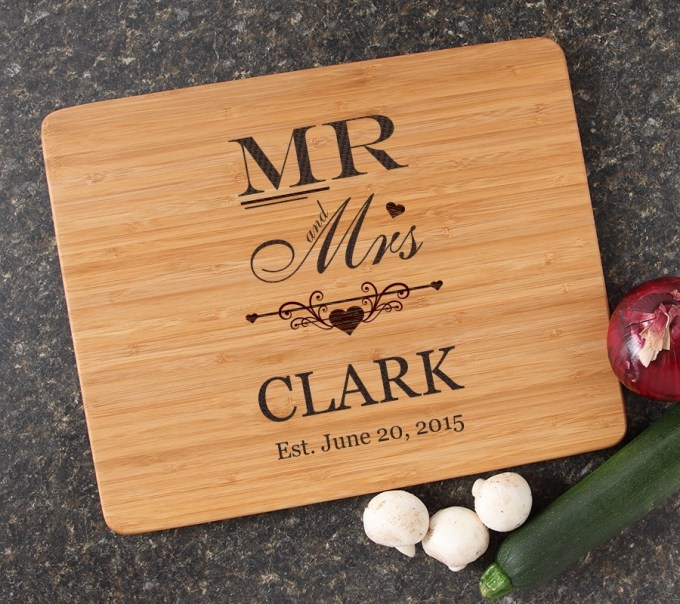 Engraved Bamboo Cutting Board Personalized 15x12 DESIGN 21 CBB-021