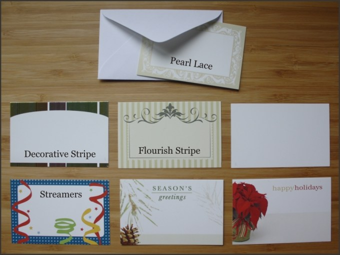 Note Card Options
