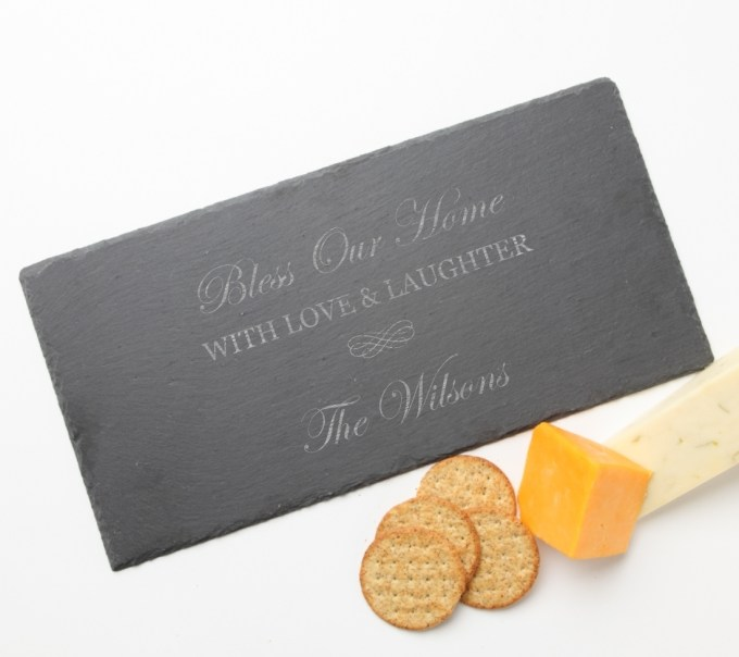 Personalized Slate Cheese Board 15 x 7 DESIGN 22 SCB-022