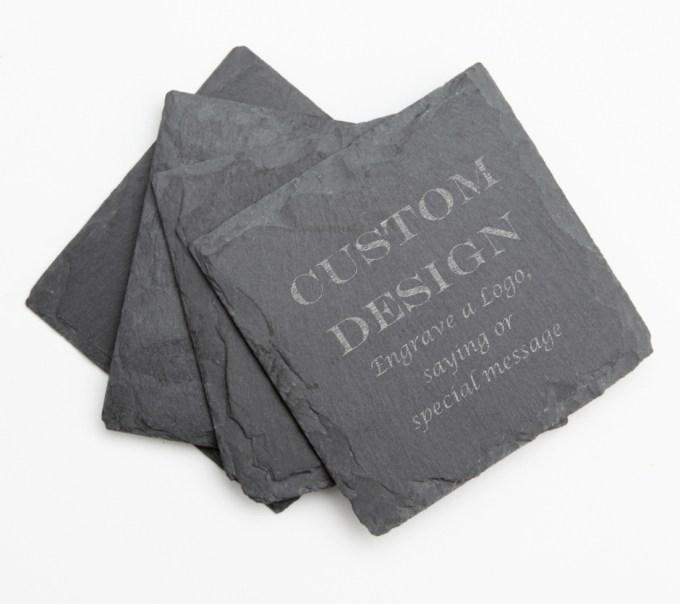 Personalized Slate Coasters Engraved Slate Coaster Set DESIGN 13 SCS-013