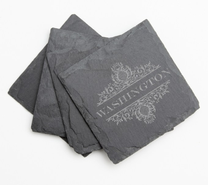 Personalized Slate Coasters Engraved Slate Coaster Set DESIGN 36 SCS-036