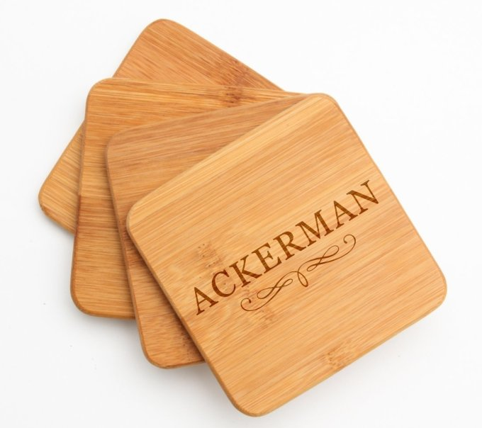 Personalized Bamboo Cutting Board Engraved 12 x 8 DESIGN 8