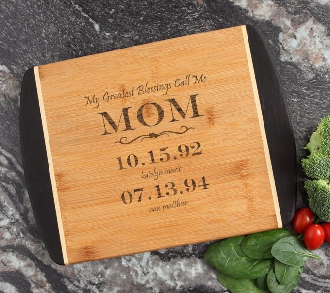 Cutting Board Engraved Personalized Bamboo 12 x 9 DESIGN 38 CBI-038