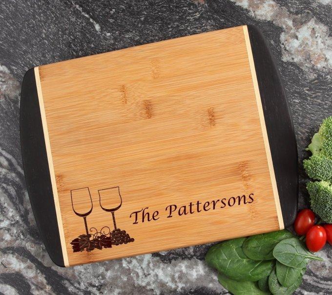Cutting Board Engraved Personalized Bamboo 12 x 9 DESIGN 5 CBI-005