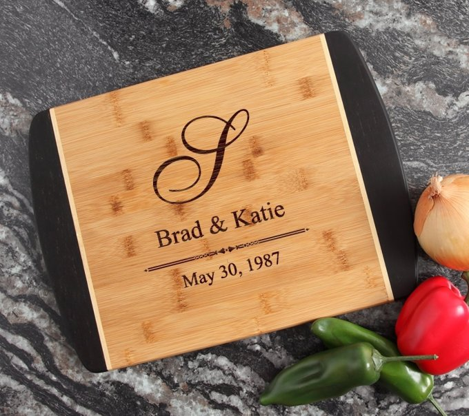Engraved Cutting Board Personalized Bamboo 15 x 11 DESIGN 11 CBJ-011