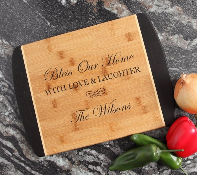 Engraved Cutting Board Personalized Bamboo 15 x 11 DESIGN 22 CBJ-022