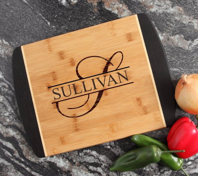 Engraved Cutting Board Personalized Bamboo 15 x 11 DESIGN 25 CBJ-025