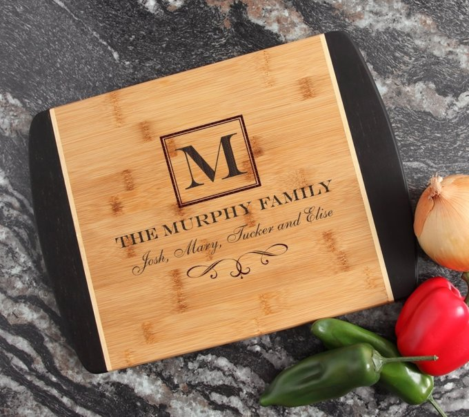 Engraved Cutting Board Personalized Bamboo 15 x 11 DESIGN 41 CBJ-041
