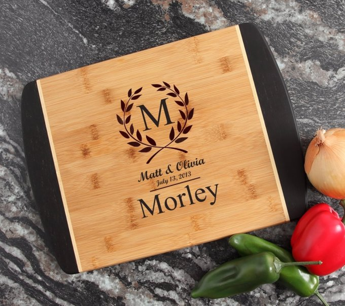 Engraved Cutting Board Personalized Bamboo 15 x 11 DESIGN 6 CBJ-006
