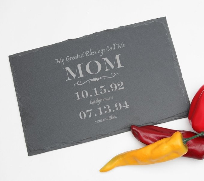 Personalized Slate Cheese Board 11 x 7 DESIGN 38 SCBS-038