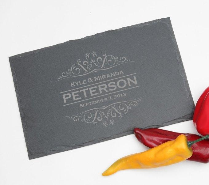 Personalized Slate Cheese Board 11 x 7 DESIGN 7 SCBS-007