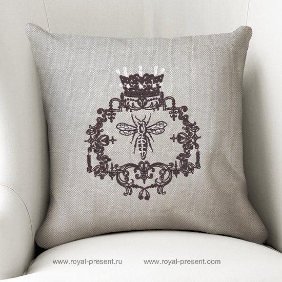 Дизайн машинной вышивки Винтажная Королева Пчела RPE-1284
