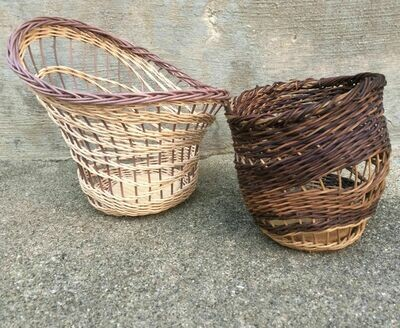 CLASS IS FULL: The Wave Basket: Freeform with a wooden base.  Saturday January 4, 2020. 2:30-6:30 PM.