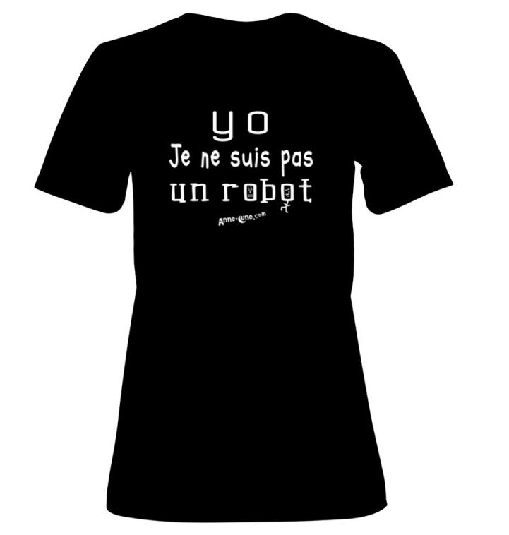 T-shirt femme modèle robot (taille M)