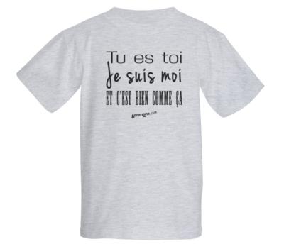 T-shirt enfant modèle toi-moi (taille L)