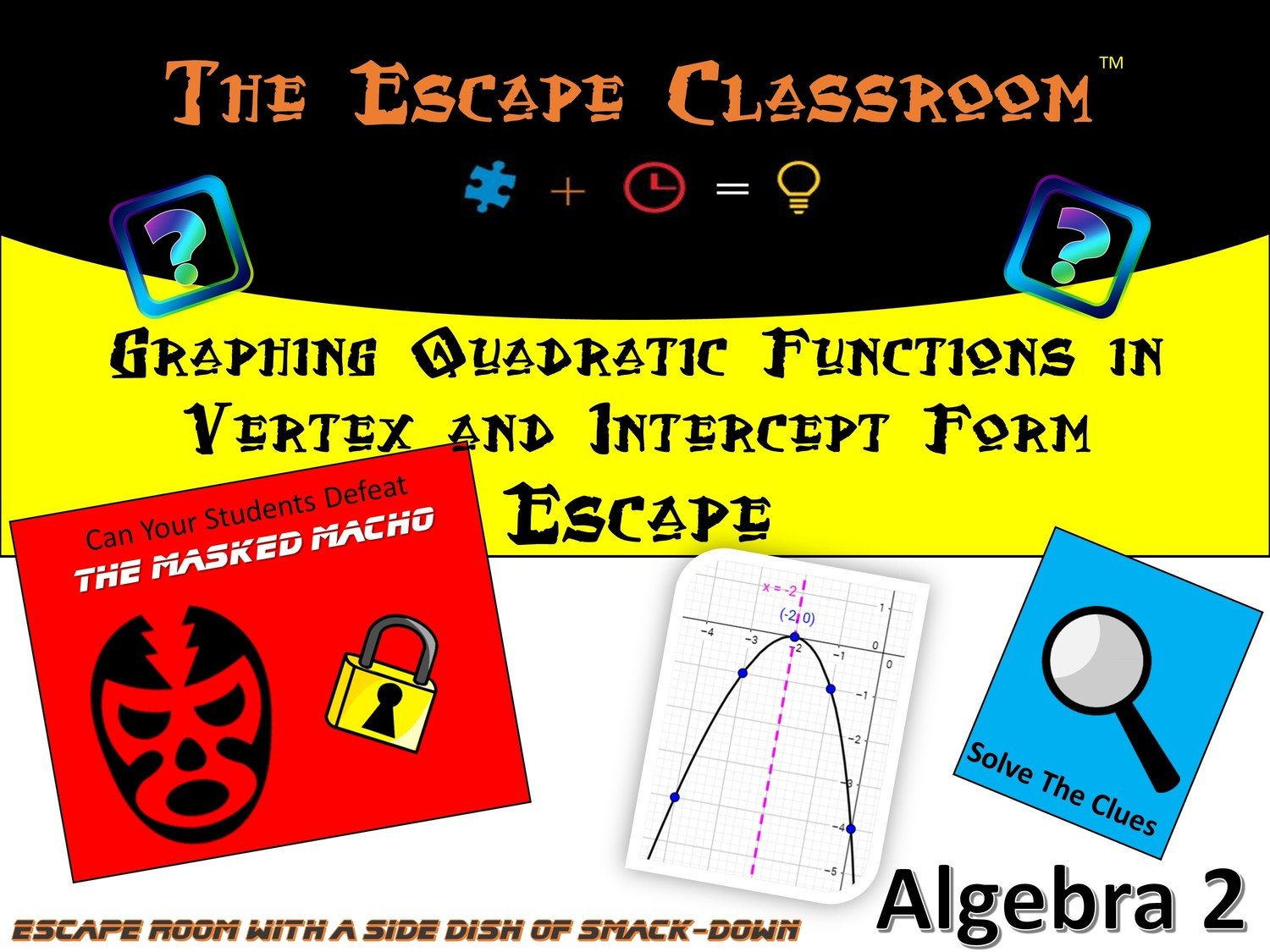 Algebra 2 Graphing Quadratic Functions In Vertex Form And