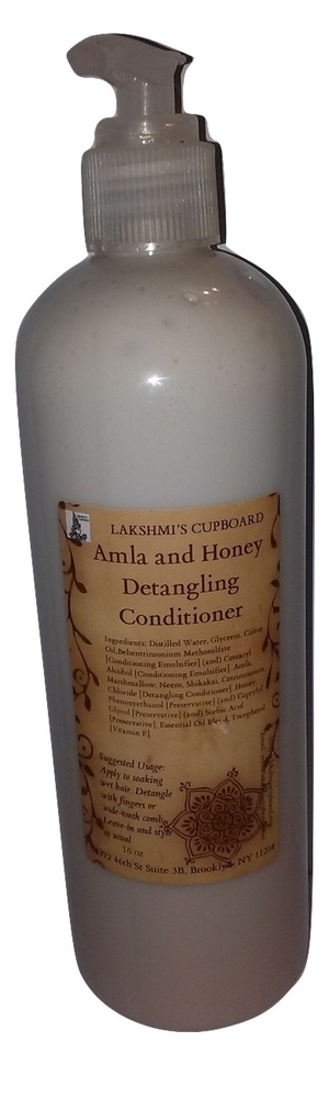 Amla and Honey Detangling Conditioner 8 oz w/ Neem and Shikakai (Leave-in Conditioner) 000778
