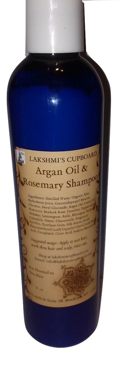 Argan Oil and Rosemary Shampoo w/Shikakai, Aloe Vera, Burdock Root 8 oz 00029