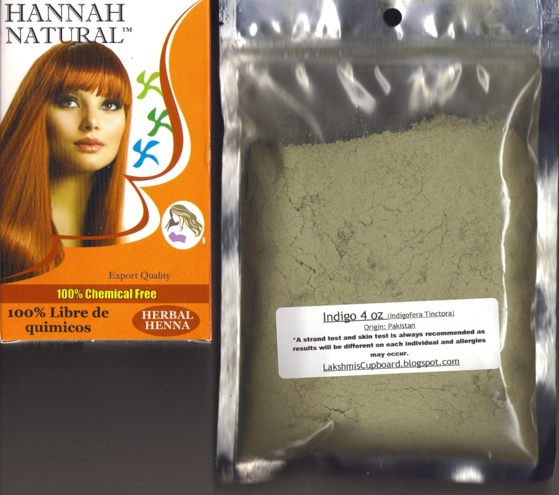 Hannah Herbal Henna 100gm + Indigo 4 oz Pack 100