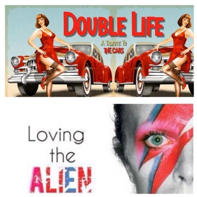 "Double Life ""The Cars Tribute"" & Loving The Alien ""The Bowie Tribute"" - June 14 2019 - 7:30pm 01396"