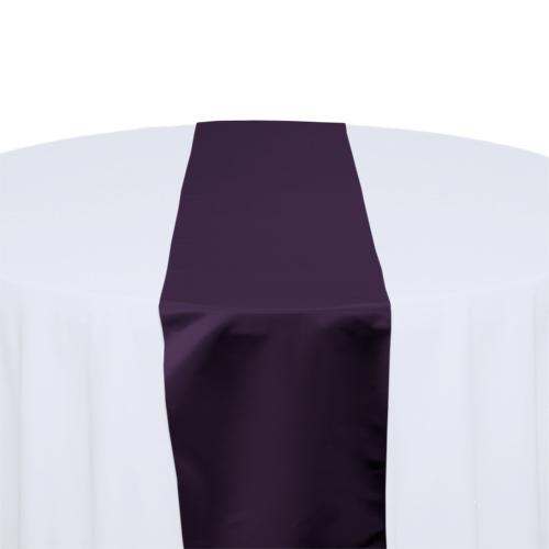 Plum Polyester Satin Table Runner Rental
